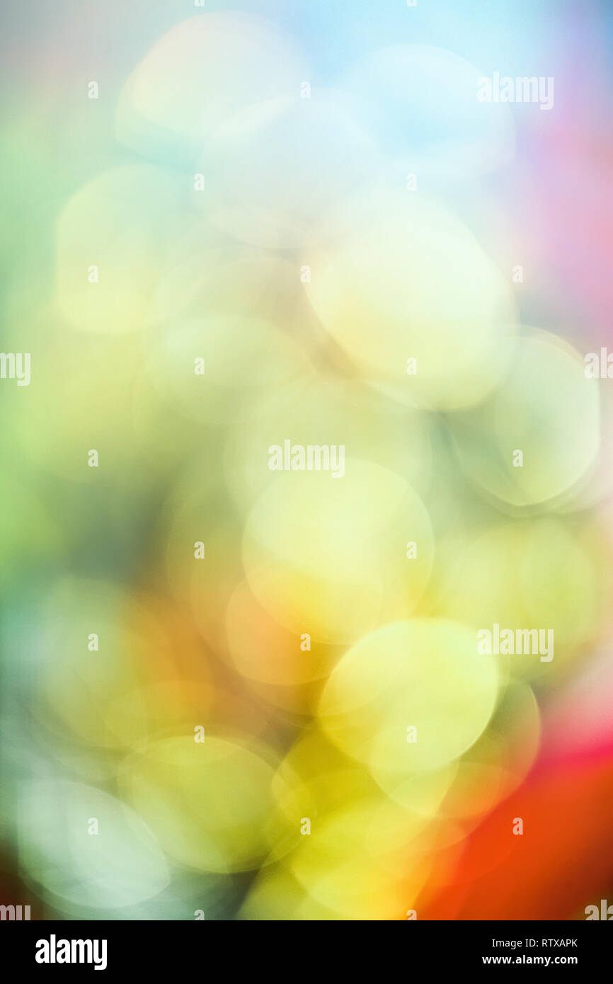Colorful blurry lights - abstract background, bokeh overlay