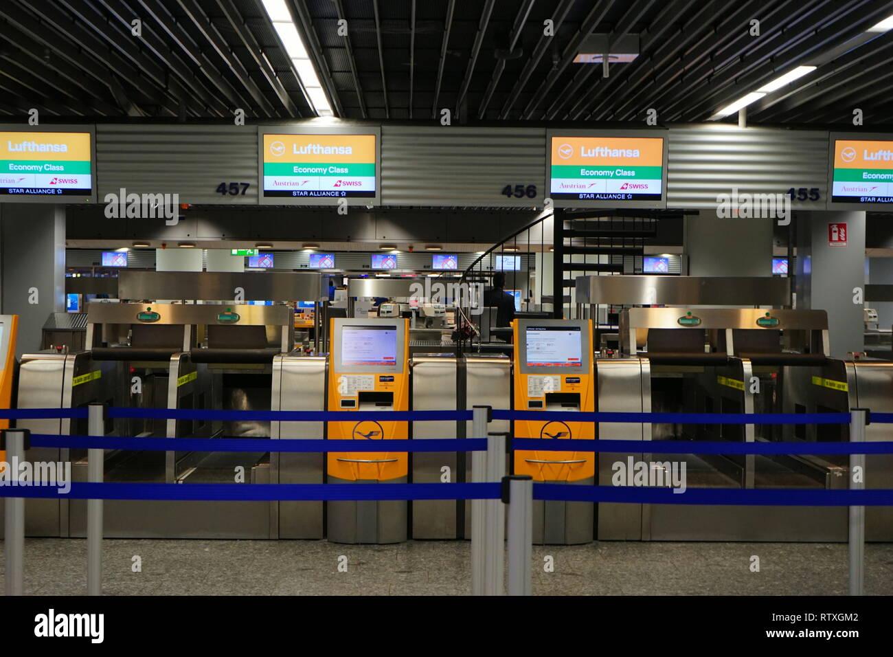 Flughafen, Airport, Frankfurt am Main, Germany - Stock Image