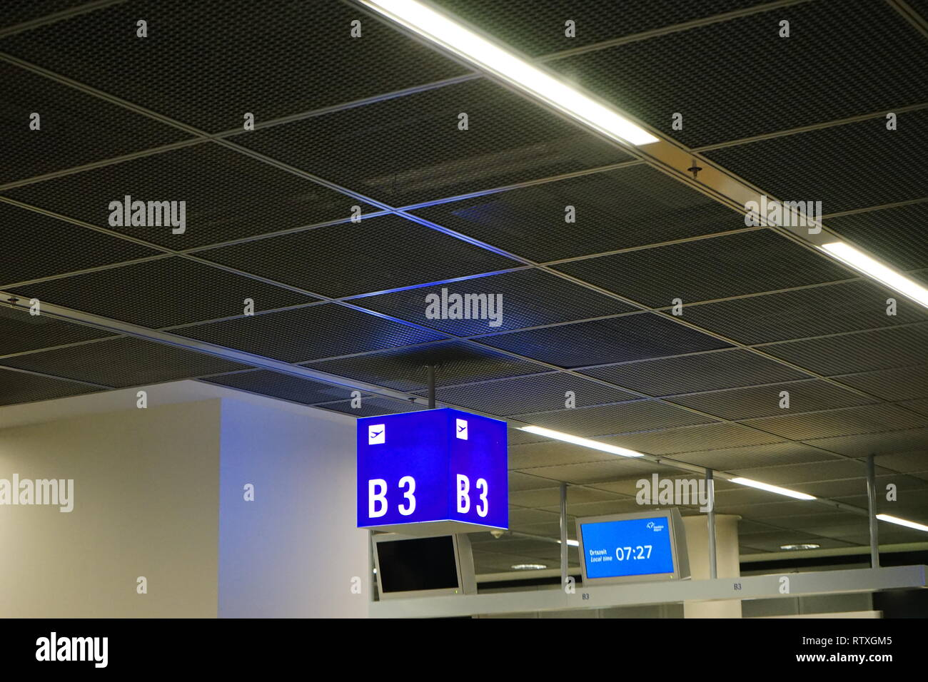 Flughafen, Airport, Frankfurt am Main, Germany - Stock Image