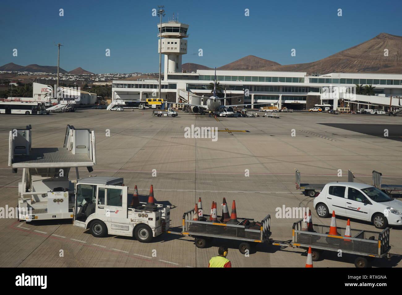 Flughafen Arrecife, Lanzarote, Kanarische Inseln, Spanien - Stock Image