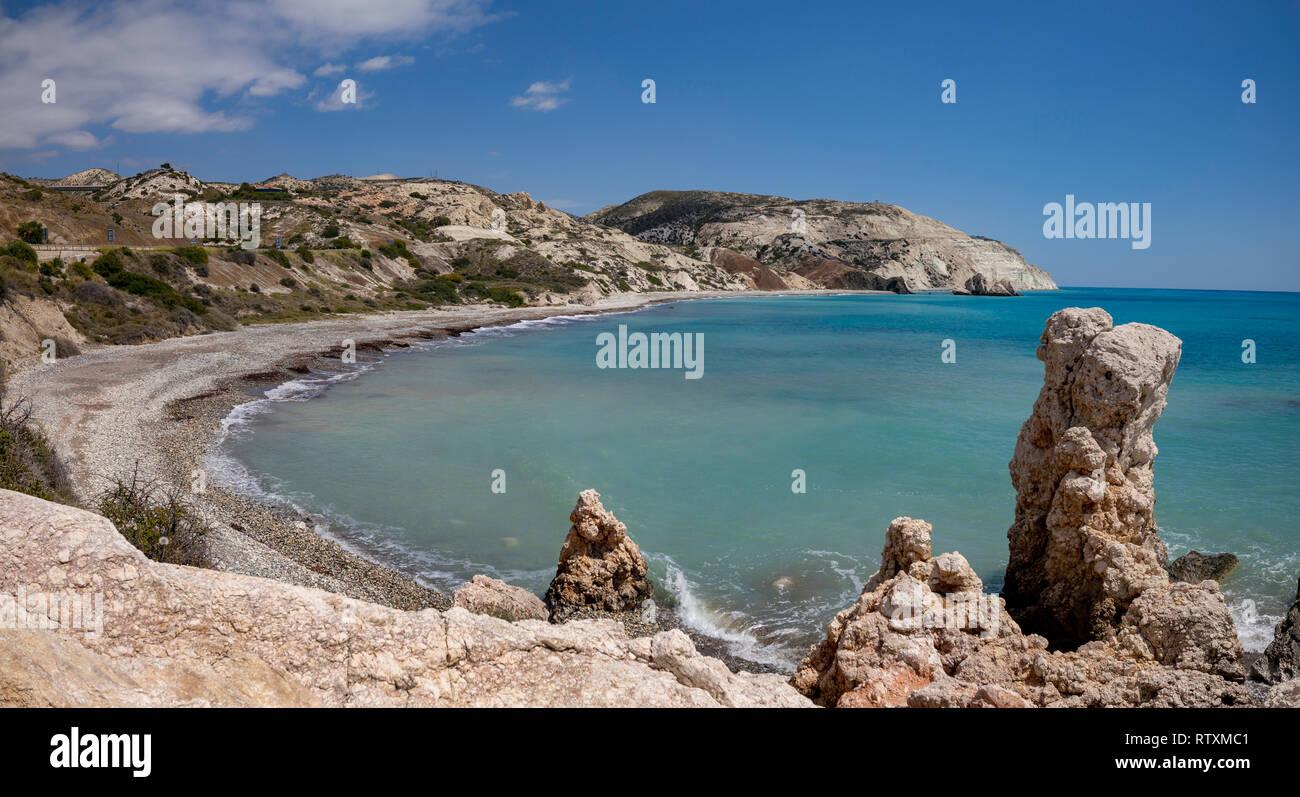 Petra tou Romiou bay in Cyprus. Stock Photo