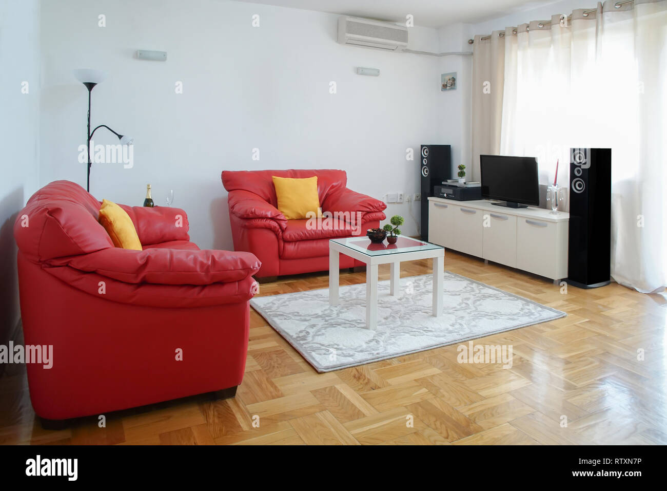 Magnificent Interior Shot Of A Modern Living Room Spacious Apartment Onthecornerstone Fun Painted Chair Ideas Images Onthecornerstoneorg