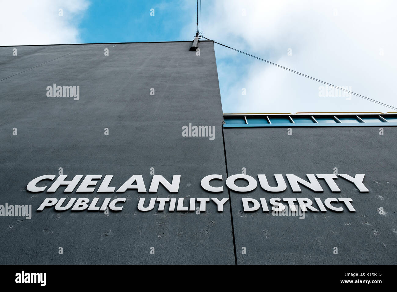 The Chelan County Public Utility Department the team managing the hydroelectric dams and electrical grids in the Wenatchee Valley, as well as the parks, potable water and waste water plants.  About 35% of the electricity is used in the local economies, while the remainder is sold throughout much of the rest of the Pacific Northwest. - Stock Image
