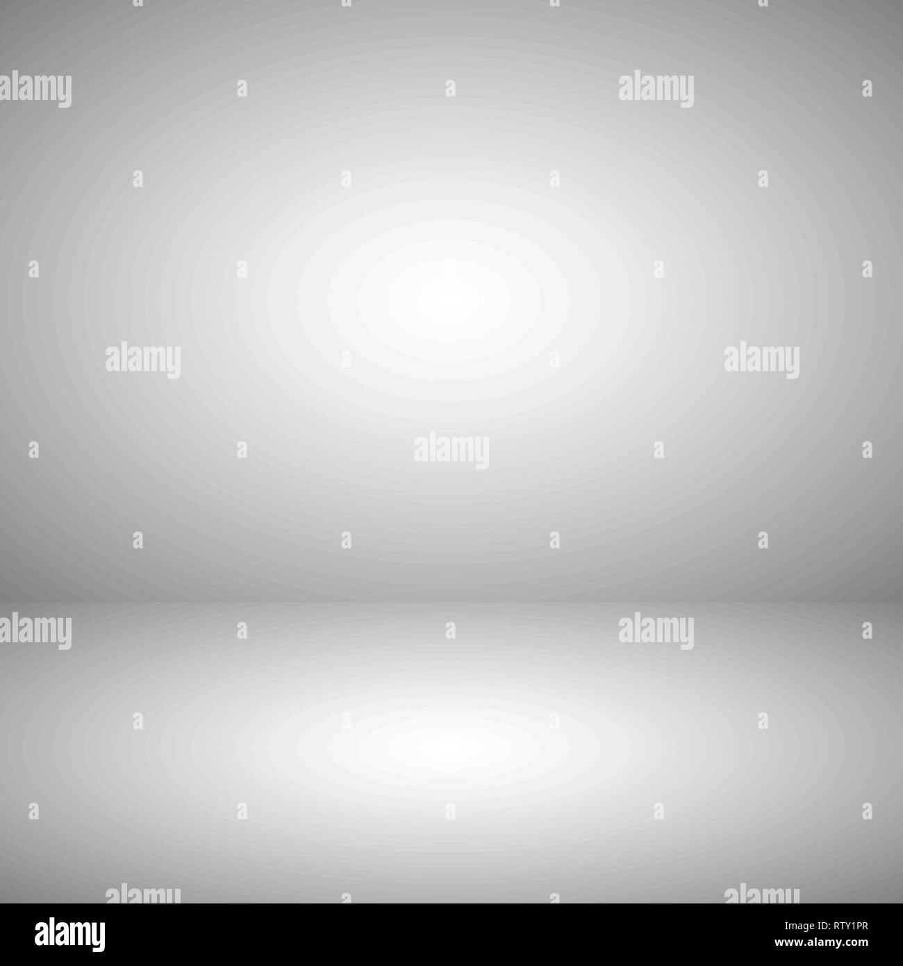 Empty gray color product showcase. Studio room background. Used as background for display your product, Vector - Stock Vector