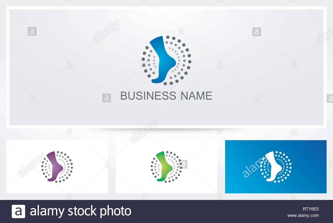 Foot Ankle Logo - Stock Vector