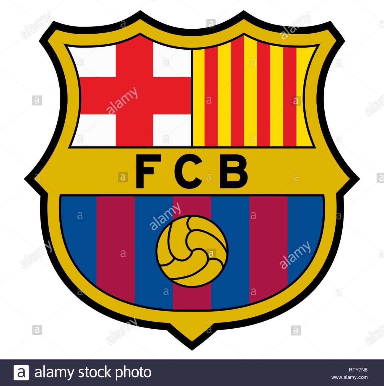 Barcelona Barca logo - Stock Image