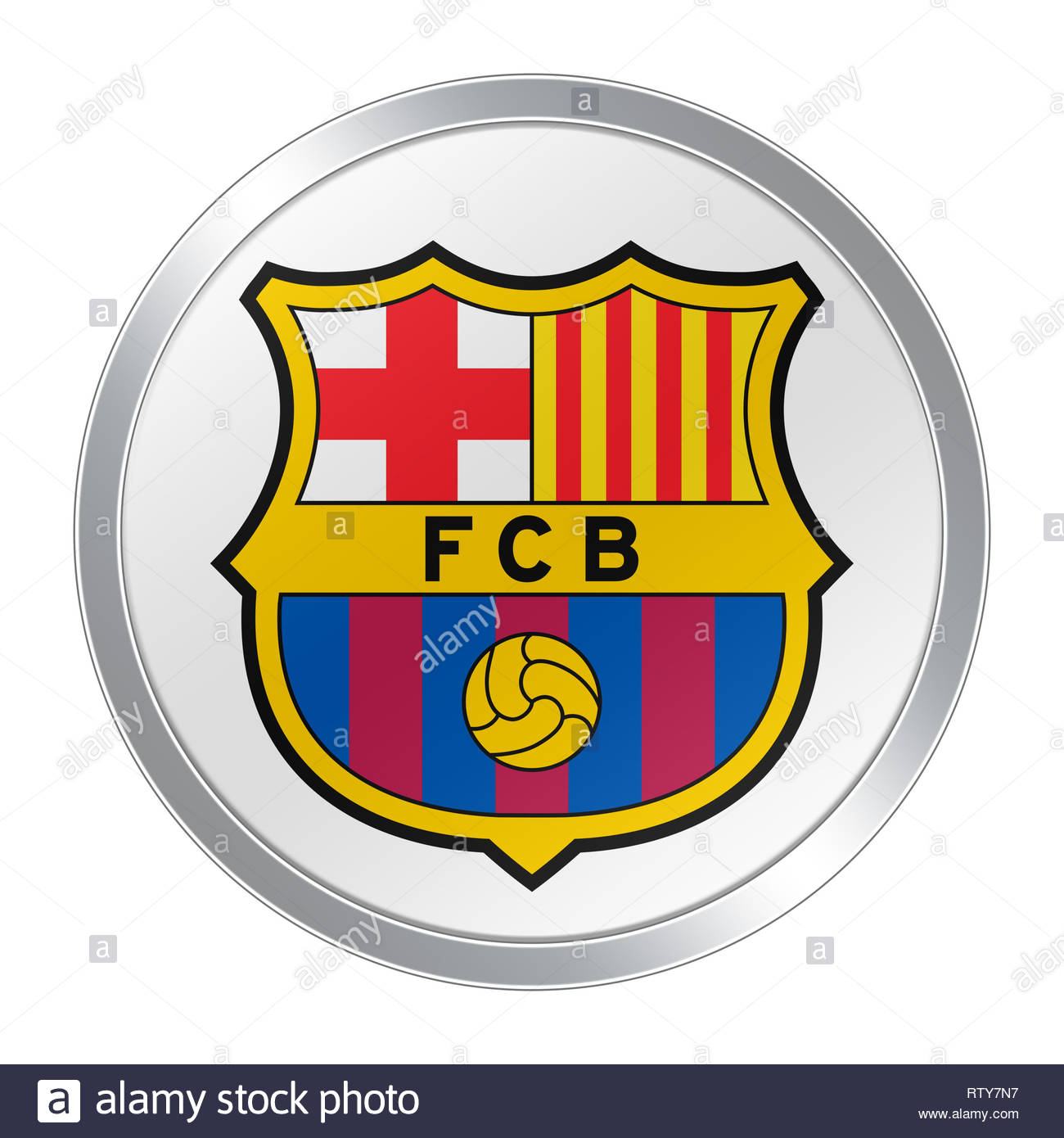 FC Barcelona Barca logo icon - Stock Image