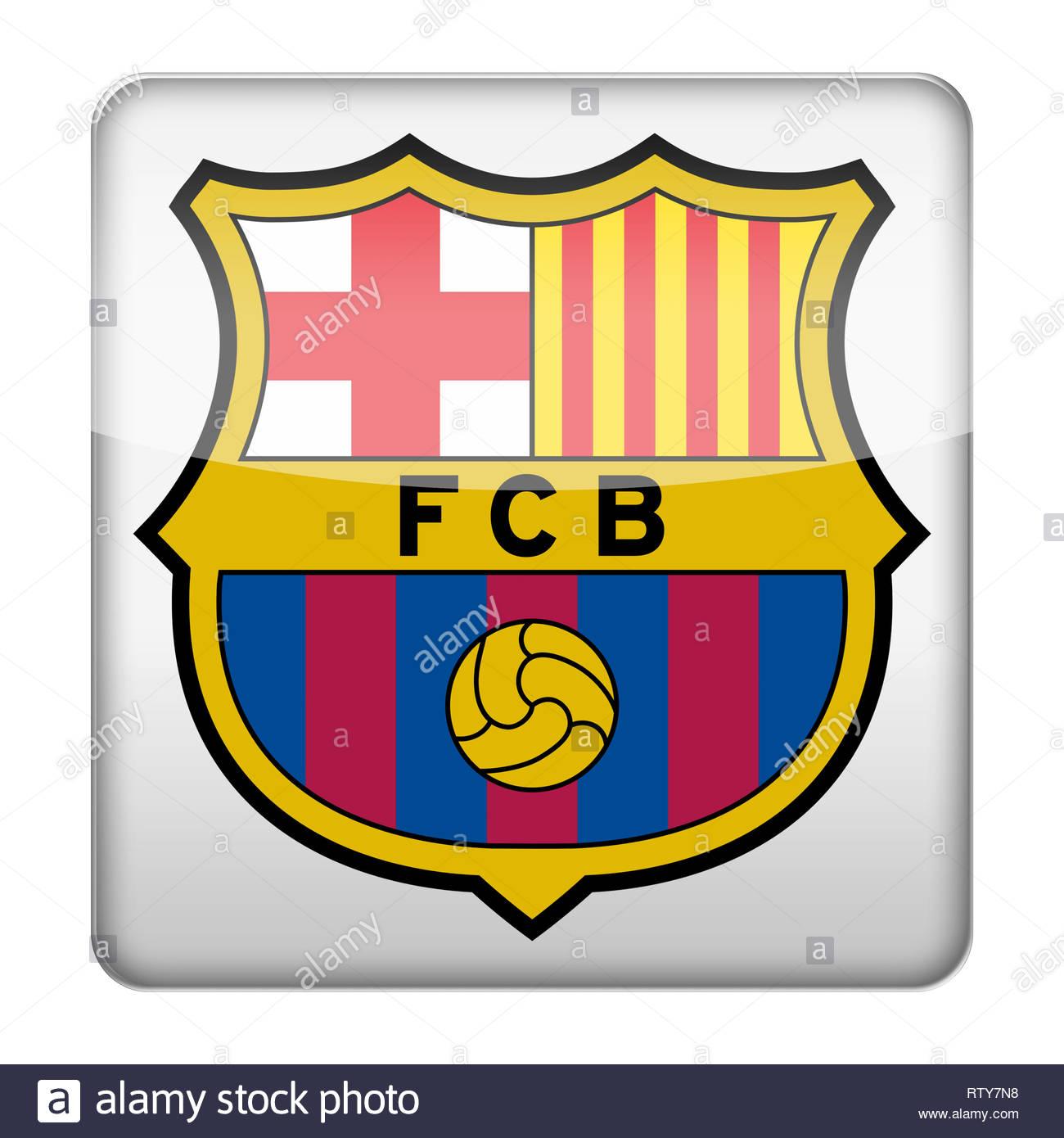 FC Barcelona logo - Stock Image
