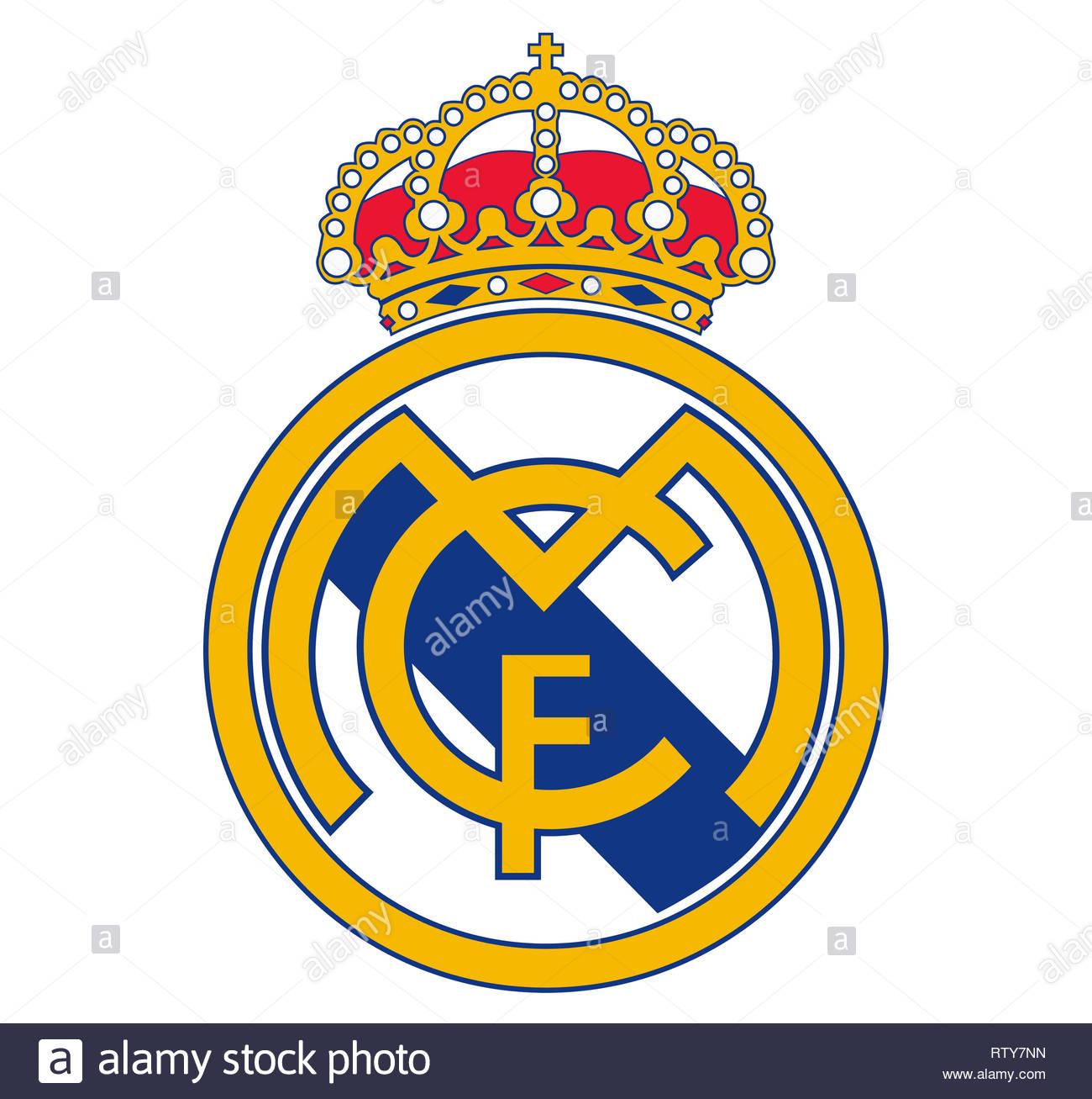 Real Madrid Club logo - Stock Image