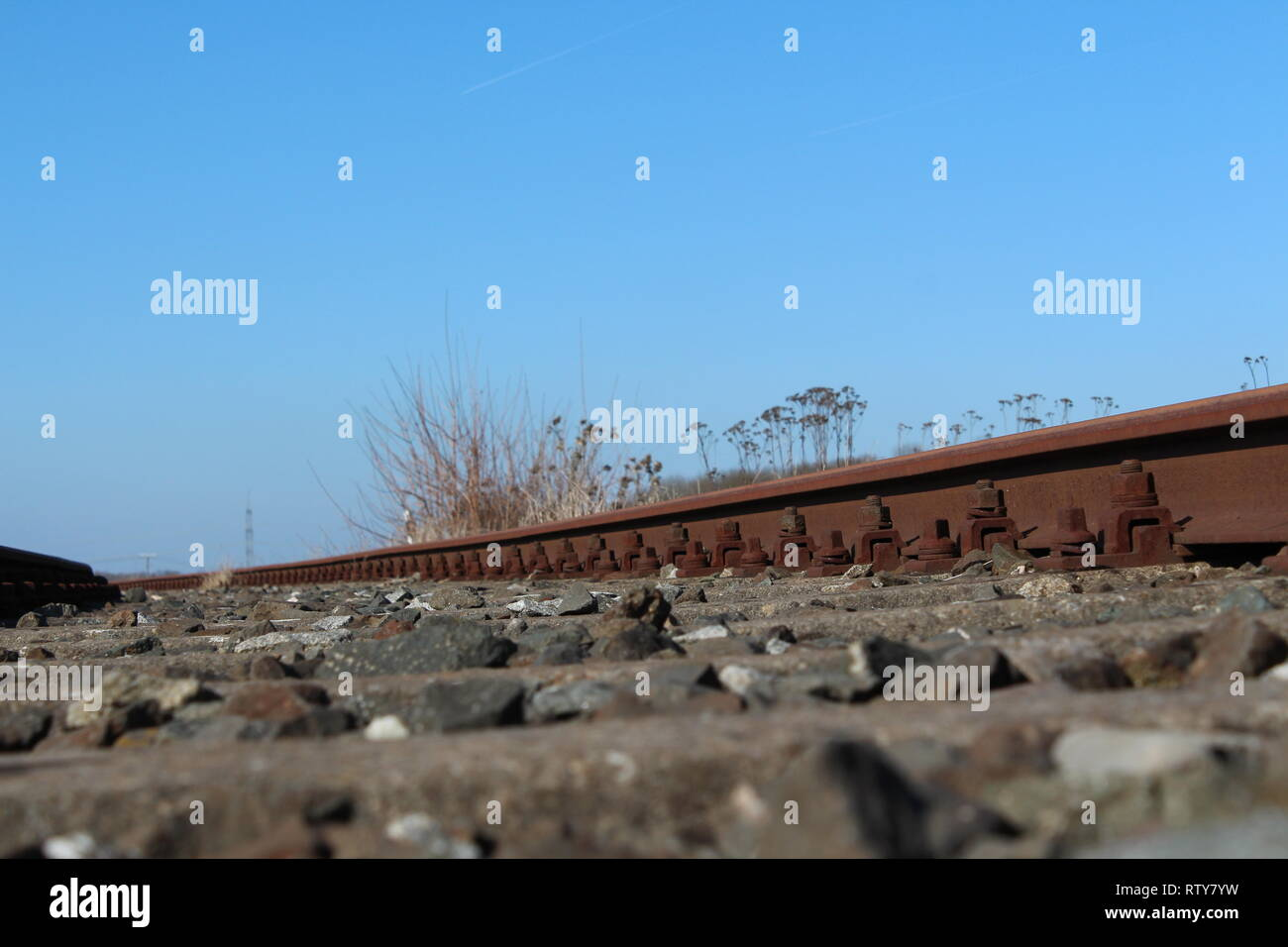 Disused track - Stock Image