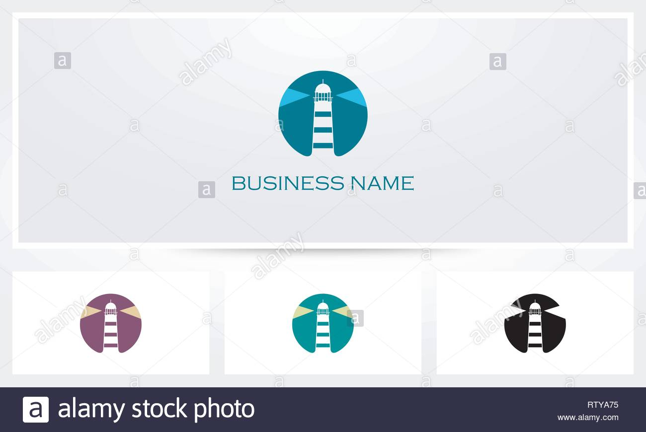 Lighthouse Beacon Logo - Stock Image