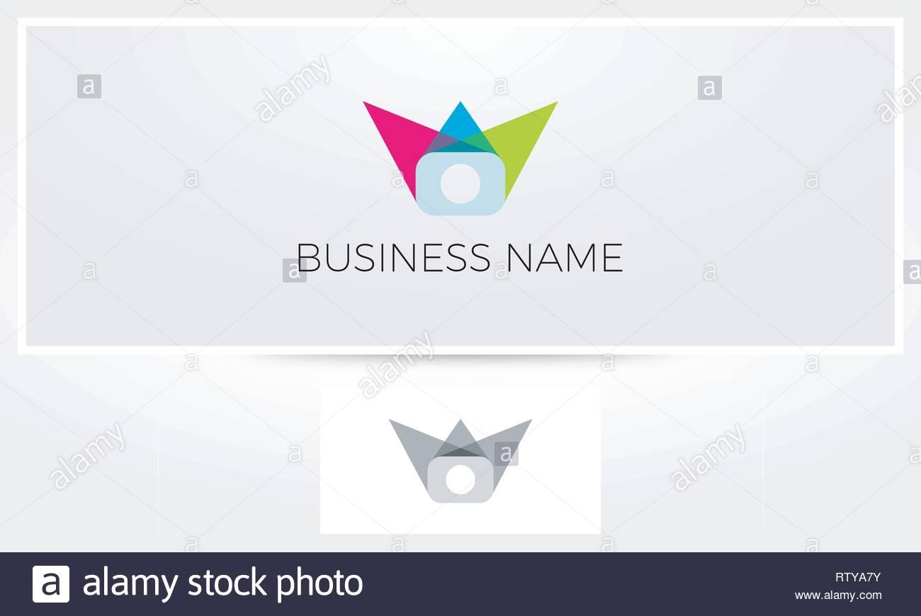 Color Photography Logo - Stock Vector