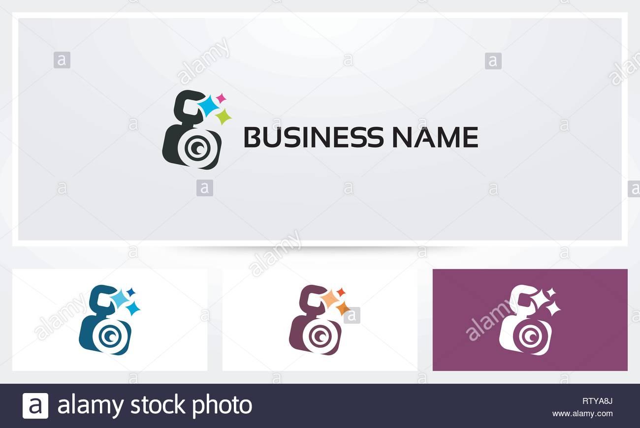 SLR DSLR Camera Photography Logo - Stock Vector
