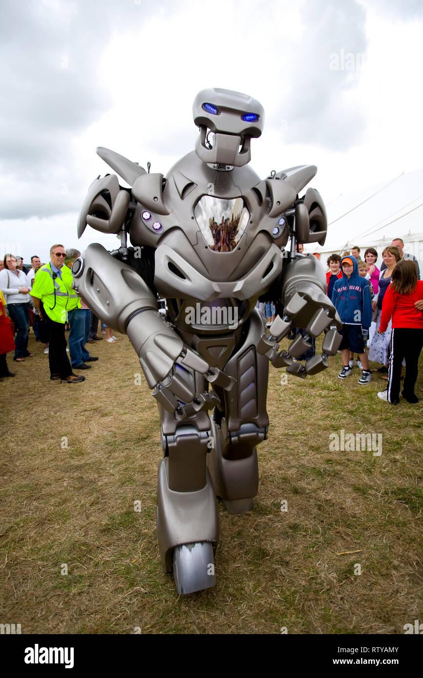 Titan,the,Robot, Garlic Festival, Arreton, Isle of Wight, UK, - Stock Image