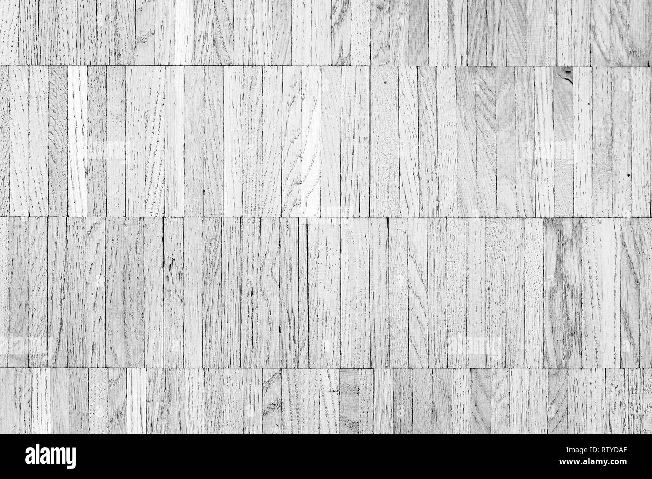 White floor made of wooden planks. Flat background photo texture - Stock Image