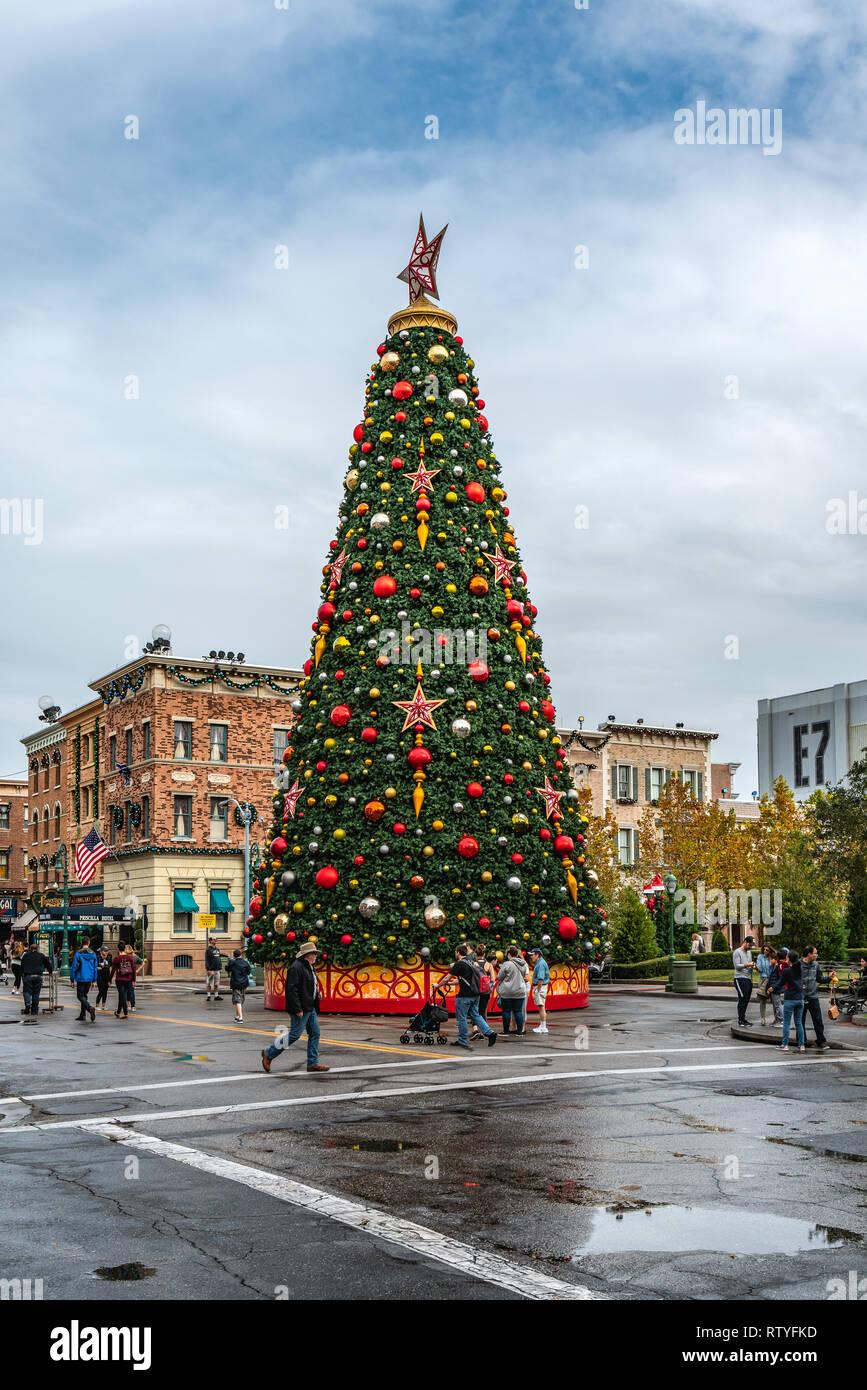 Christmas At Universal Studios Orlando.Orlando Florida Usa December 2018 Christmas At