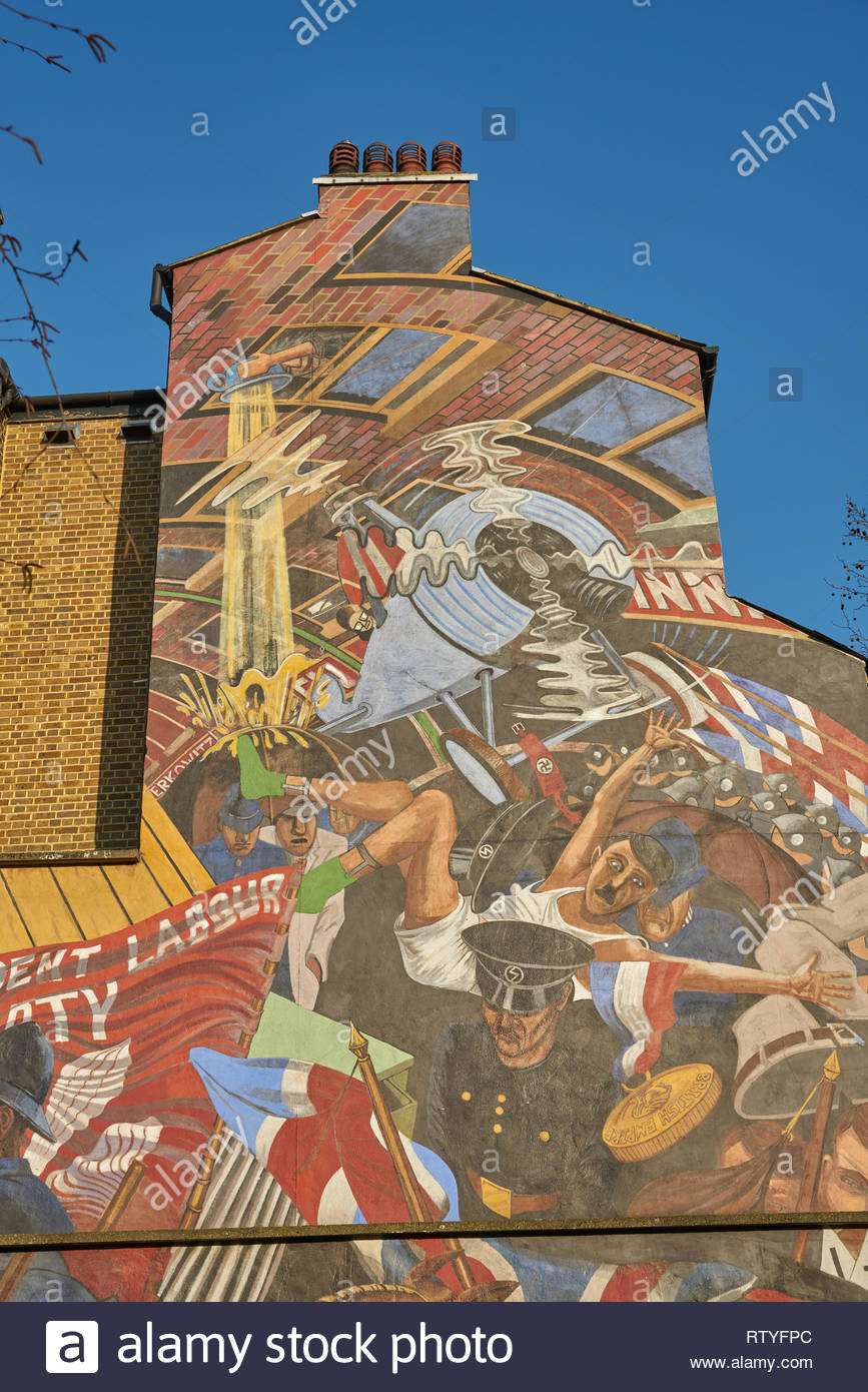 cable street mural london - Stock Image