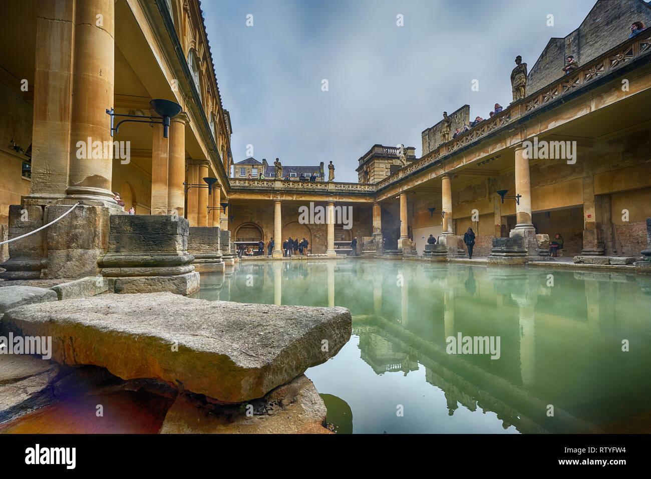 Roman Baths  ciity of bath Stock Photo