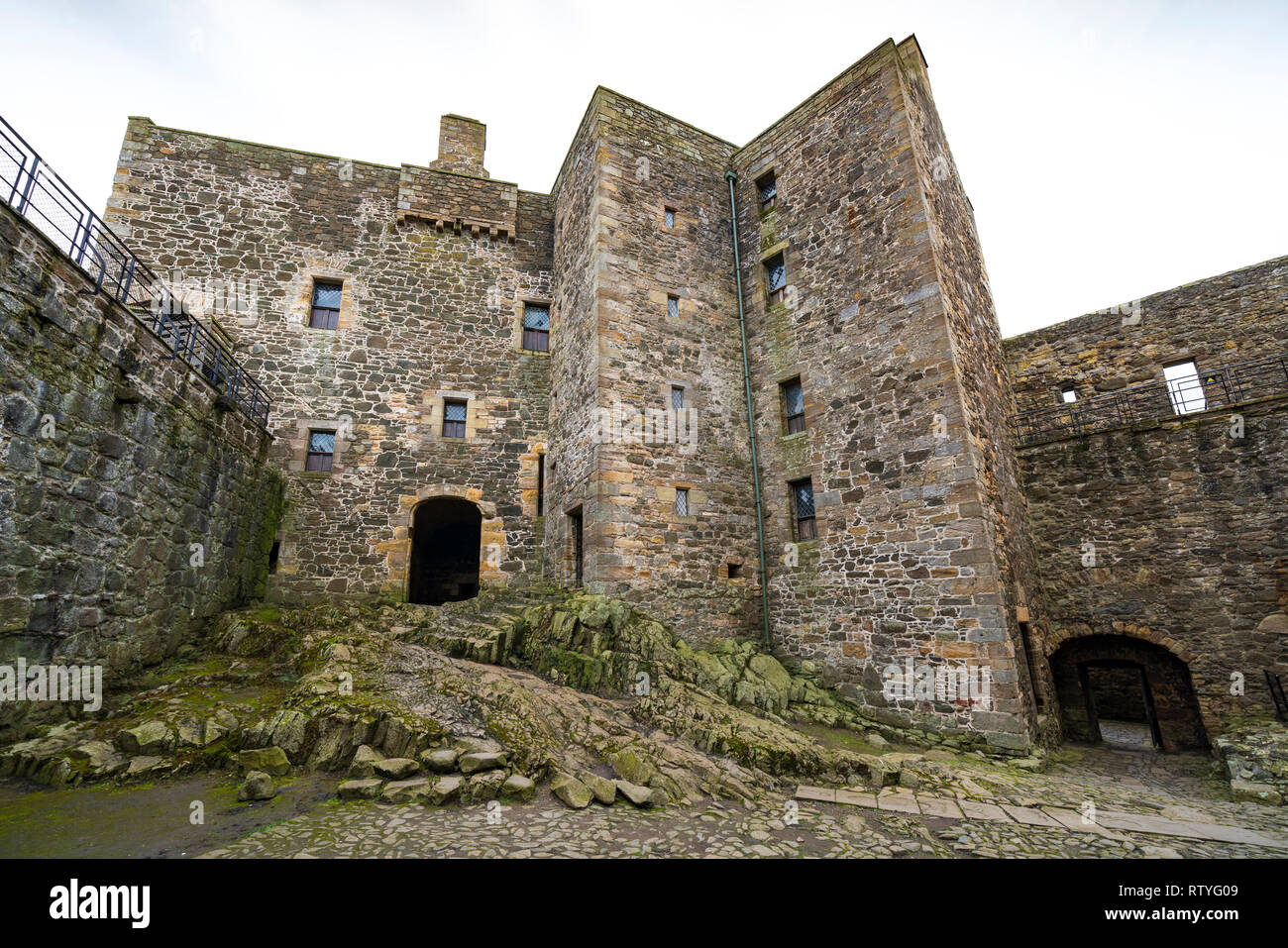 Blackness Castle  a 15th-century fortress, near the village of Blackness, Scotland, on the south shore of the Firth of Forth, Scotland, UK. Blackness  Stock Photo