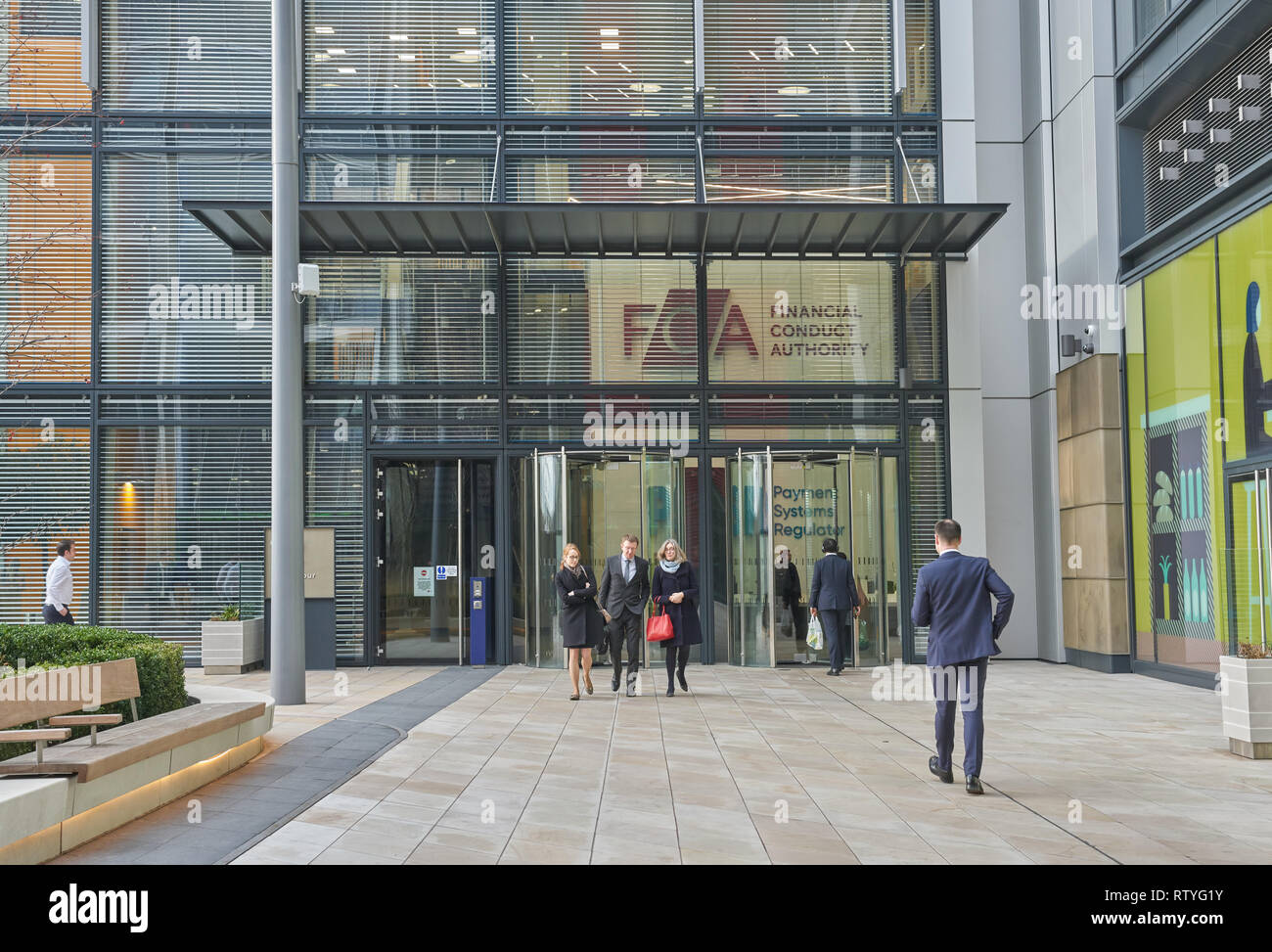 financial conduct authority offices London Stock Photo