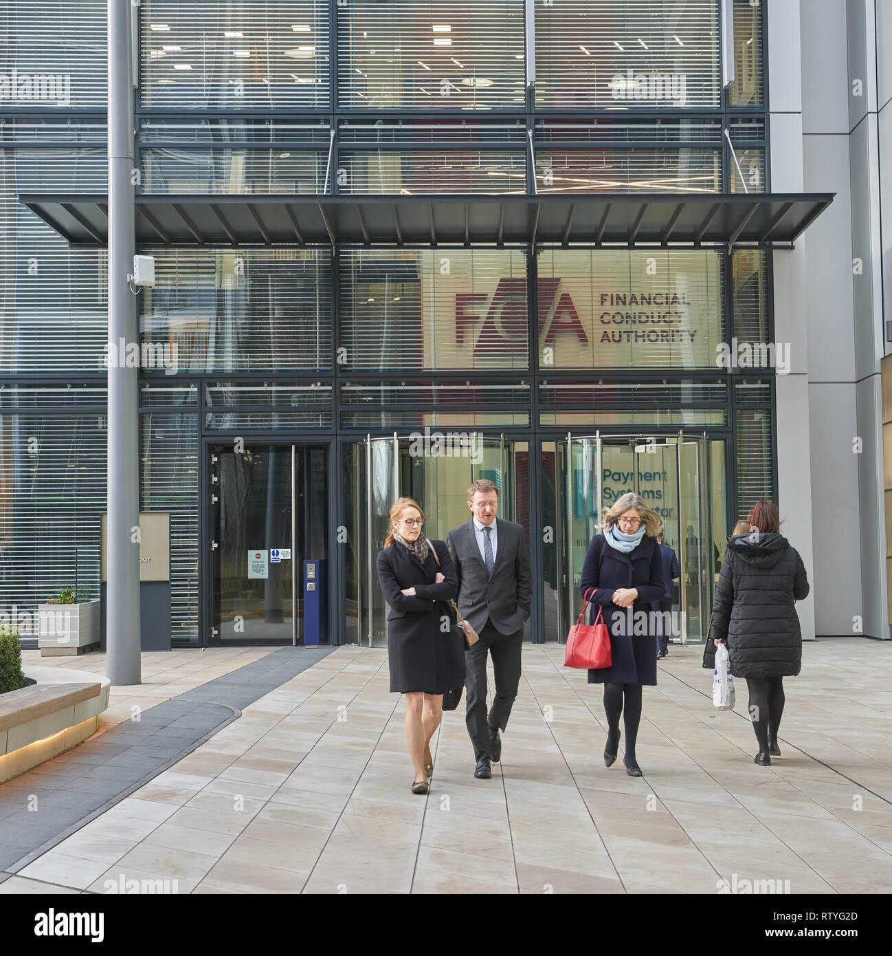 financial conduct authority offices London - Stock Image