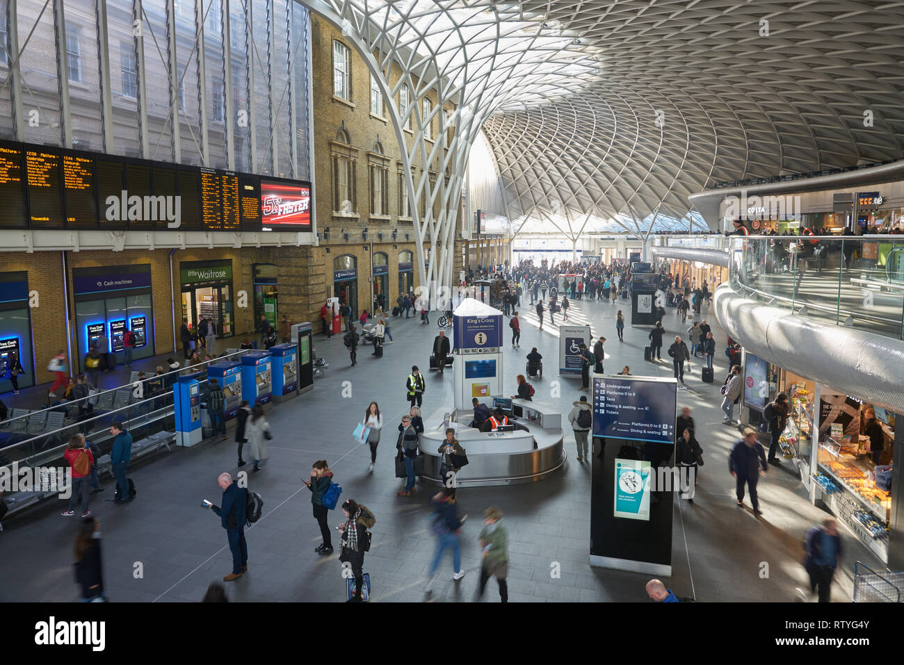 kings cross station  london Stock Photo