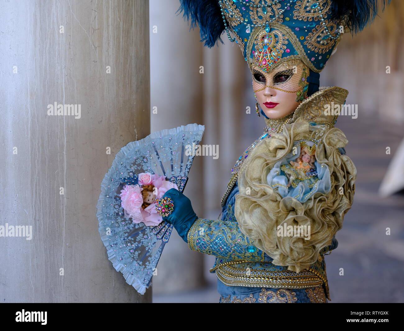 Venice Carnival Mask Festival 2019 Stock Photo: 239092523