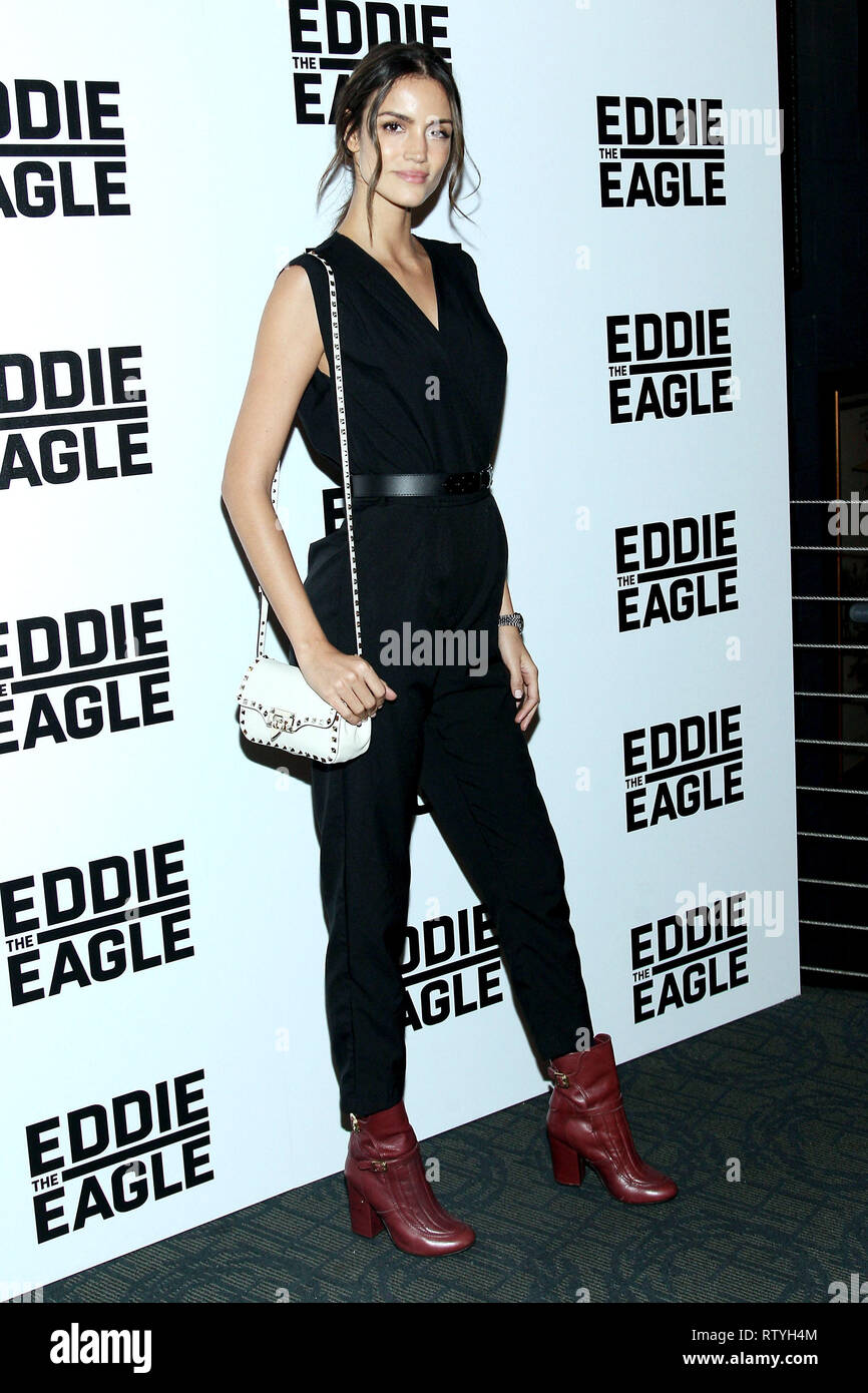 New York, USA. 02 Feb, 2016. Sofia Resing at The Tuesday, Feb 2, 2016 'Eddie The Eagle' Screening at Landmark Sunshine Theater in New York, USA. Credit: Steve Mack/S.D. Mack Pictures/Alamy - Stock Image