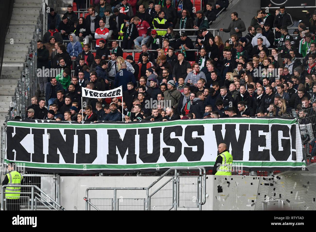best website b05e8 80c53 Stuttgart, Germany. 03rd Mar, 2019. Banners, banners, KIDS ...