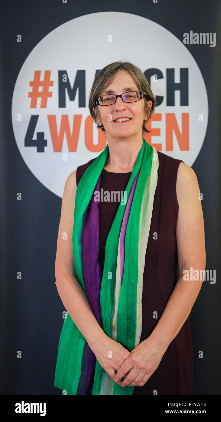 London, UK, 3rd Mar 2019. Helen Pankhurst March4Women is CARE International's annual month of action for gender equality. This year's London event is held at Central Hall, rather than as an outdoor rally, and features speeches, debate and musical performances from celebrity supporters. Credit: Imageplotter/Alamy Live News Stock Photo