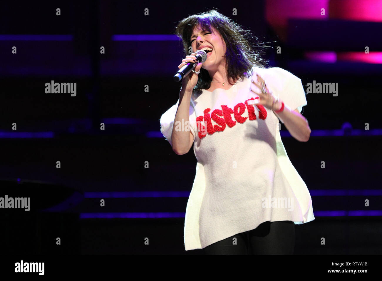 London, UK, 3rd Mar 2019. Imelda May performs. March4Women is CARE International's annual month of action for gender equality. This year's London event is held at Central Hall, rather than as an outdoor rally, and features speeches, debate and musical performances from celebrity supporters. Credit: Imageplotter/Alamy Live News Stock Photo