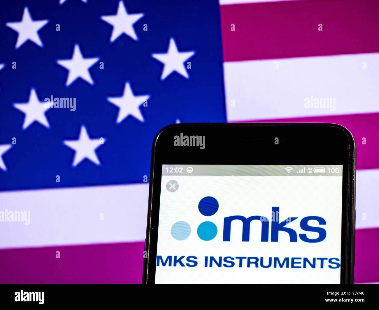 Ukraine  3rd Mar, 2019  MKS Instruments, Inc  logo seen