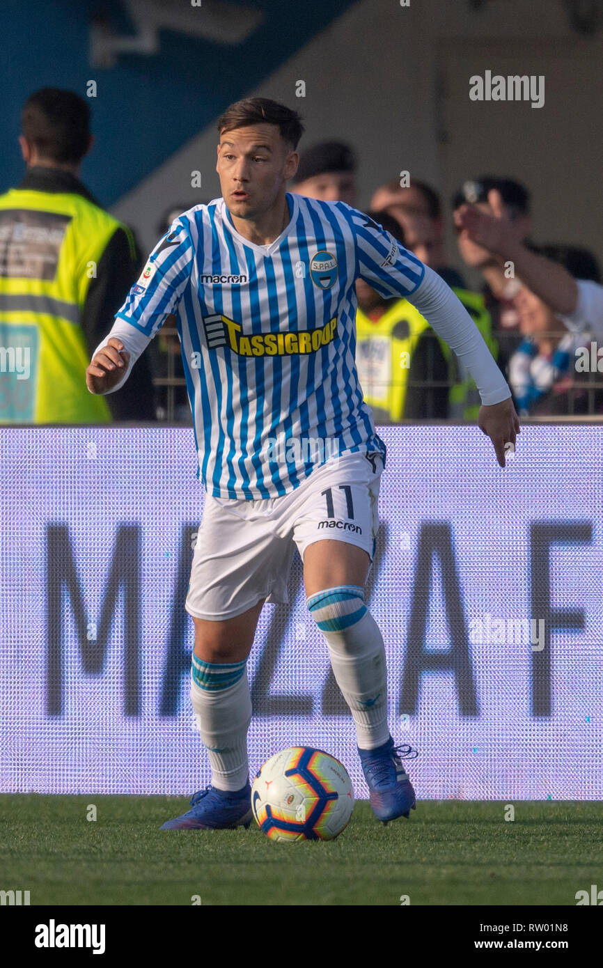 Alessandro Murgia (Spal) during the Italian