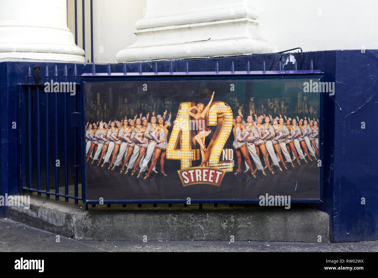 42nd street poster. - Stock Image