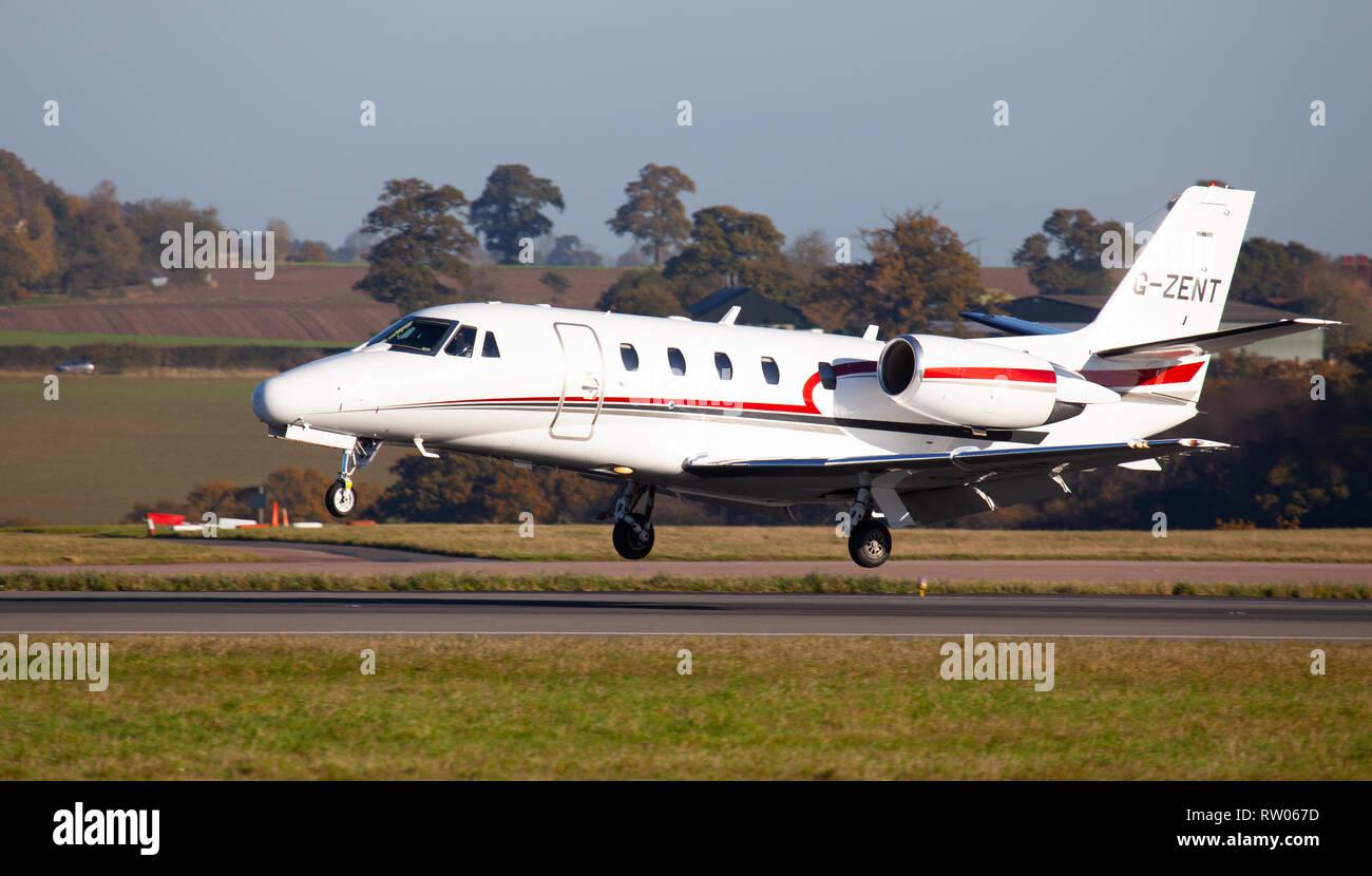 Zenith Aviation Cessna 560XL Citation XLS G-ZENT landing at