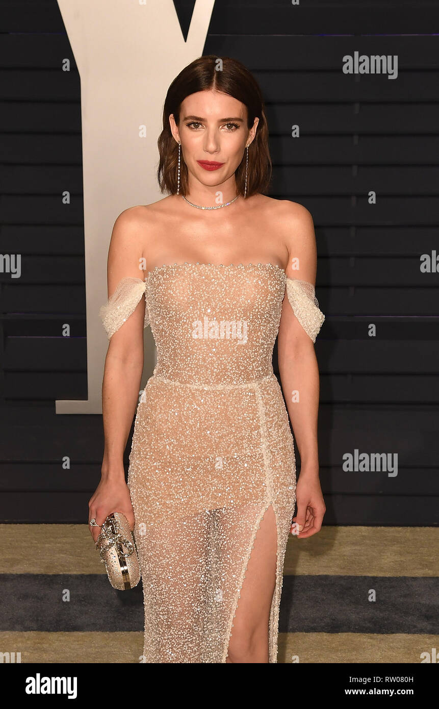 Beverly Hills California February 24 Emma Roberts Attends 2019 Vanity Fair Oscar Party At Wallis Annenberg Center For The Performing Arts On Febru Stock Photo Alamy