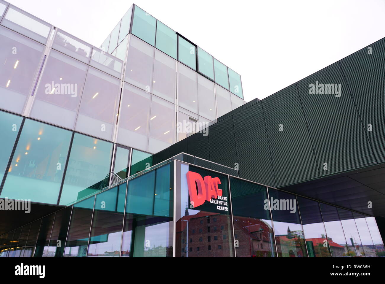 COPENHAGEN, DENMARK -26 SEP 2018- View of the Danish Architecture Center (Dansk Arkitektur Center or DAC) in Copenhagen, Denmark. - Stock Image