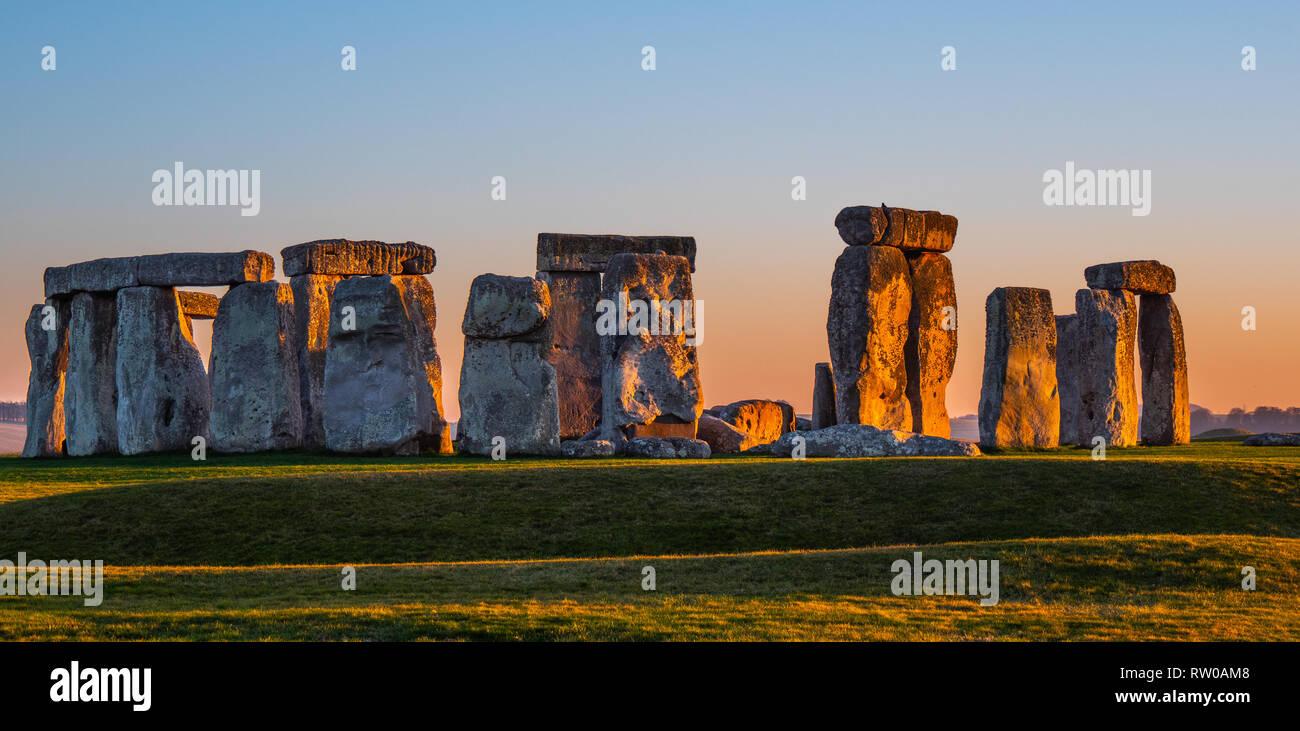 World famous rocks of Stonehenge in England - Stock Image