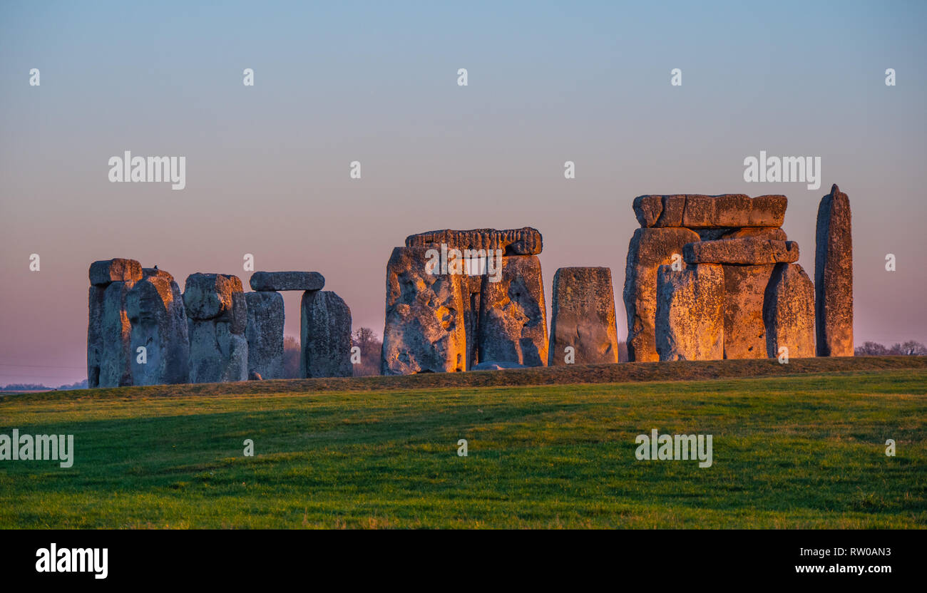 The mystery of Stonehenge in England - Stock Image