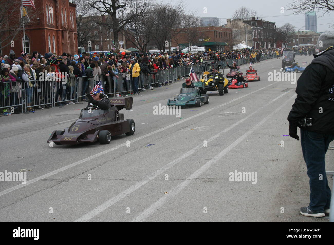 Open Wheel Moolah Cars - Stock Image
