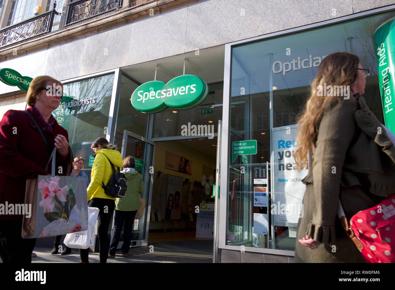 Specsavers branch UK Stock Photo