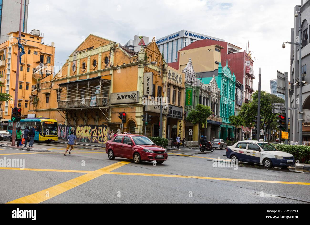 Shophouses, Early Twentieth century, Kuala Lumpur, Malaysia. - Stock Image