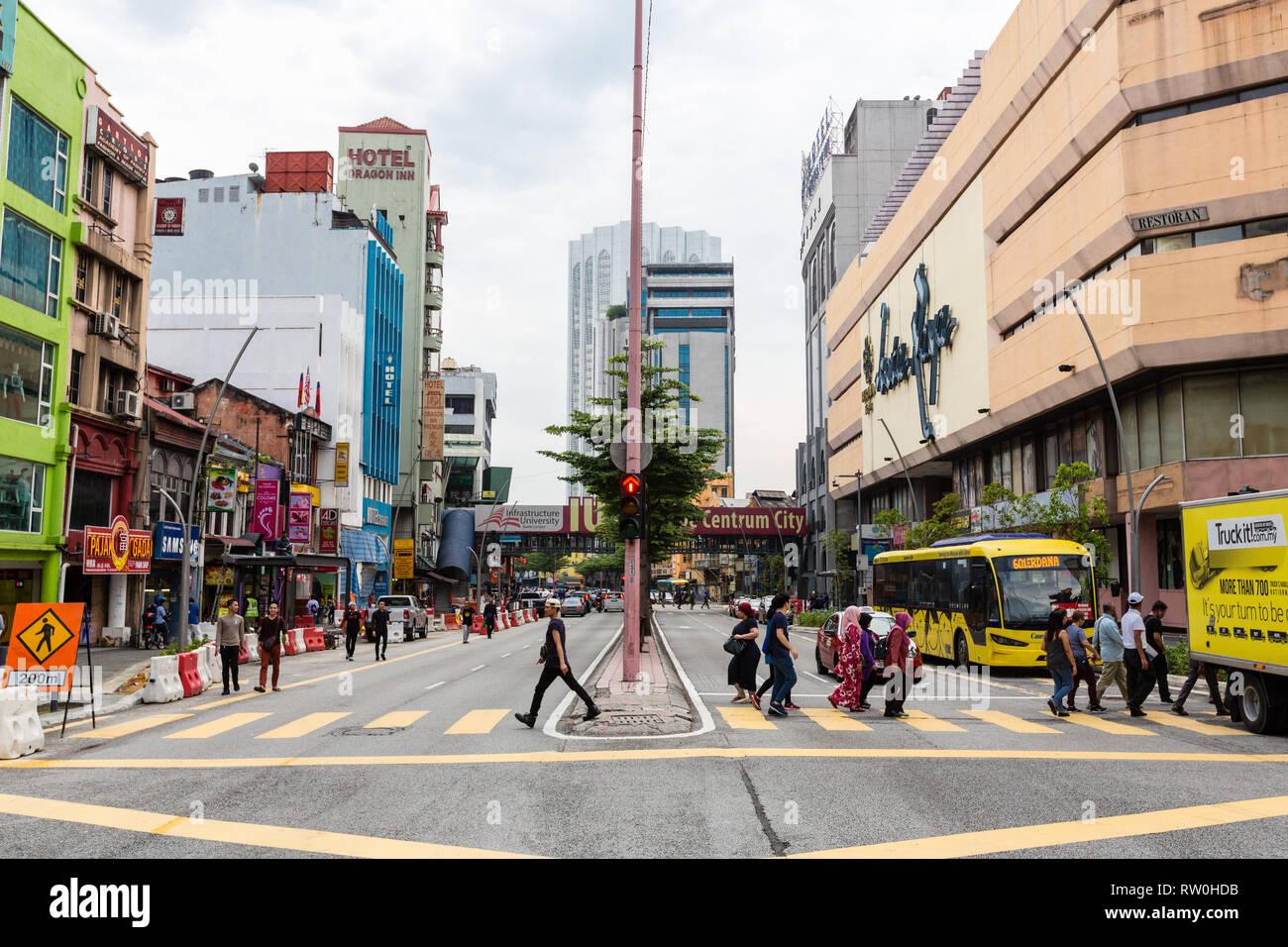 Street Scene Jalan Tun Tan Cheng Lock Kuala Lumpur Malaysia Stock Photo Alamy