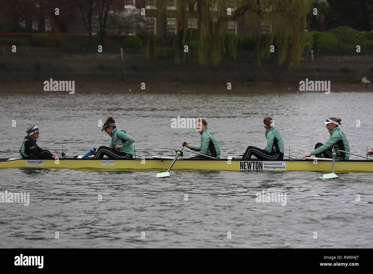 The Boat Race CUWBC vs Oxford Brookes  3 February 2019 - Stock Image