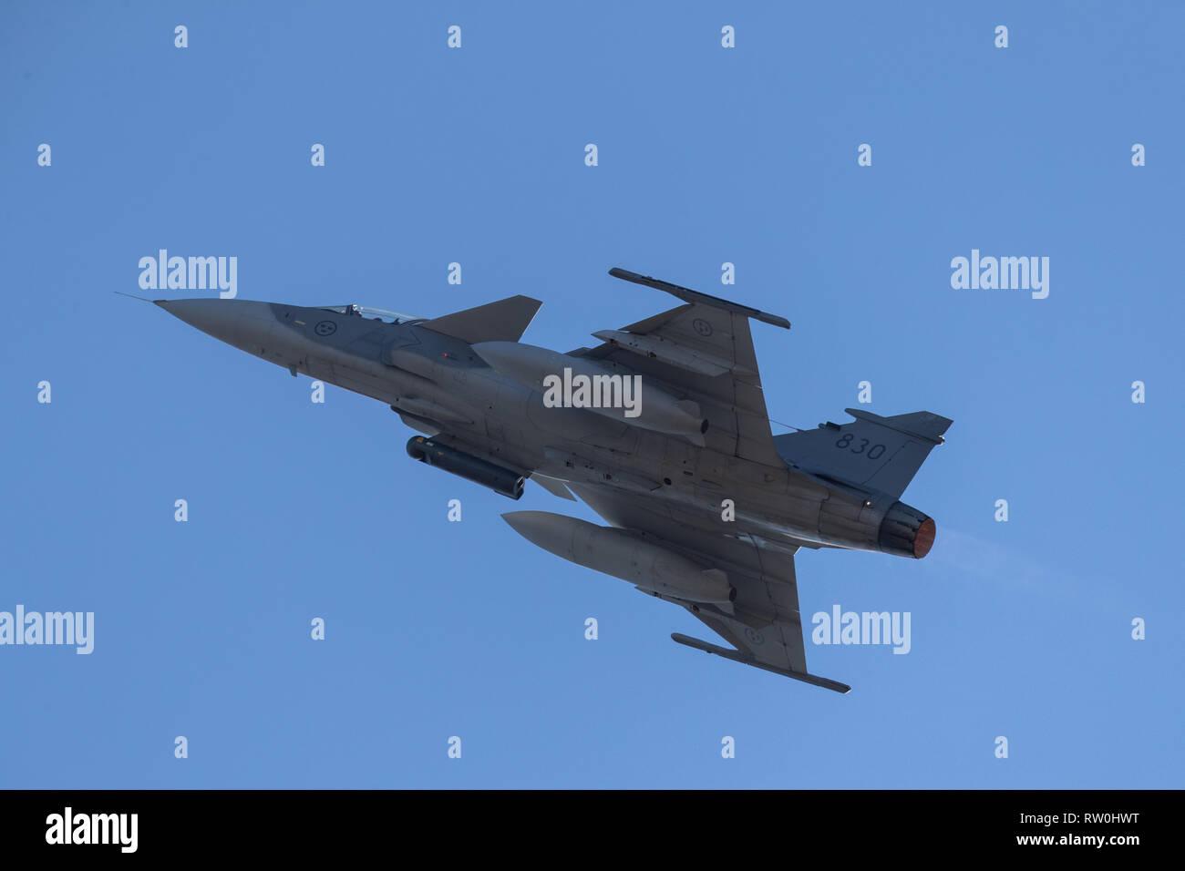 Saab JAS 39 Gripen is a Swedish built 4th generation single engine
