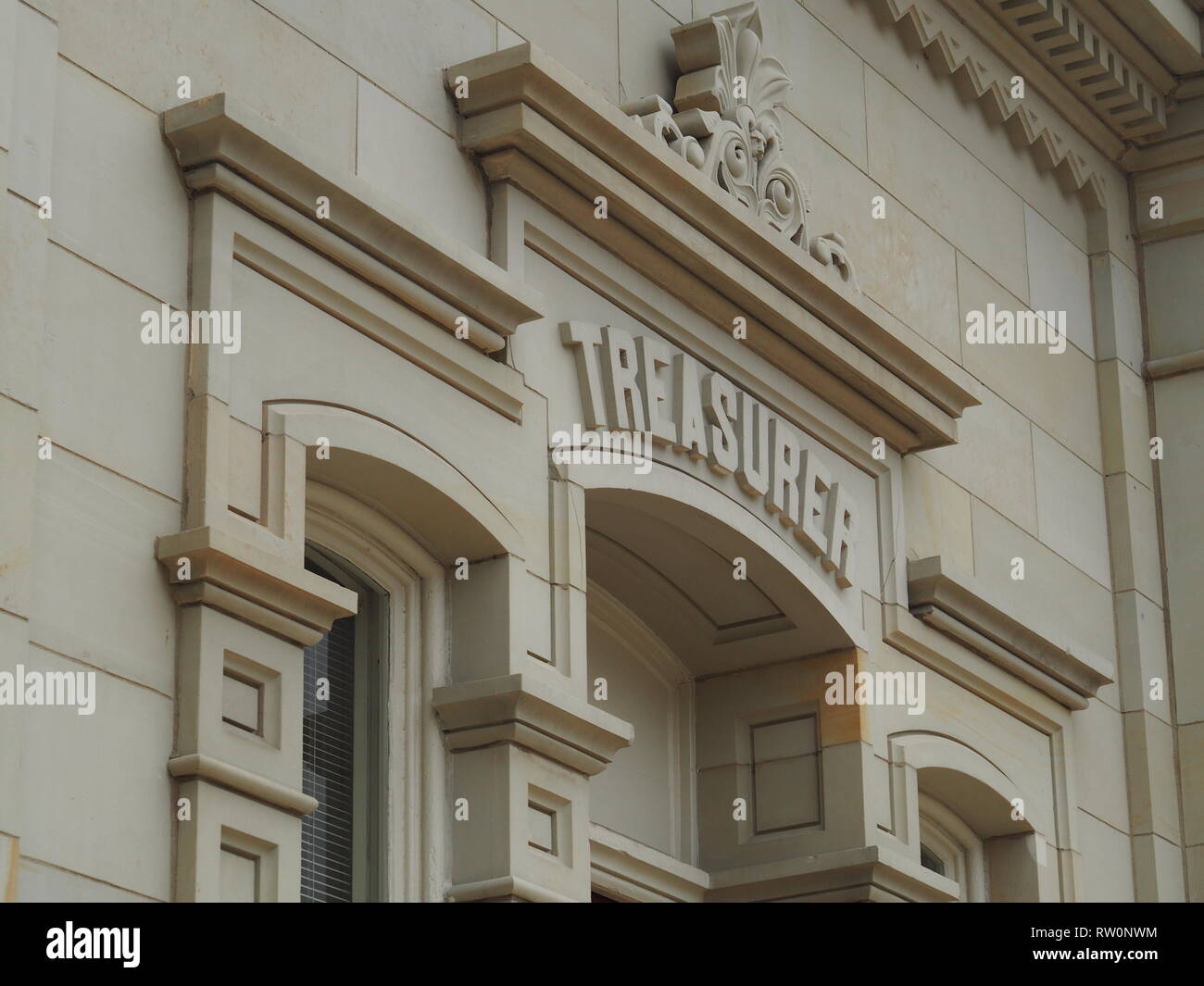 treasury  / treasurer of Chillicothe Ohio USA Building / sign - Stock Image
