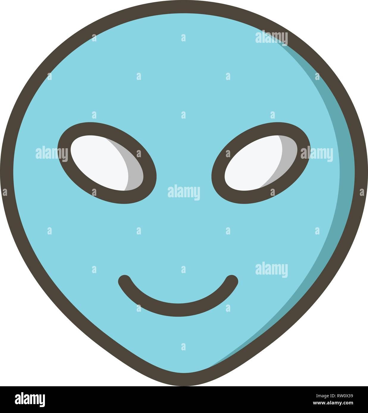 Alien Emoji Vector Icon Sign Icon Vector Illustration For