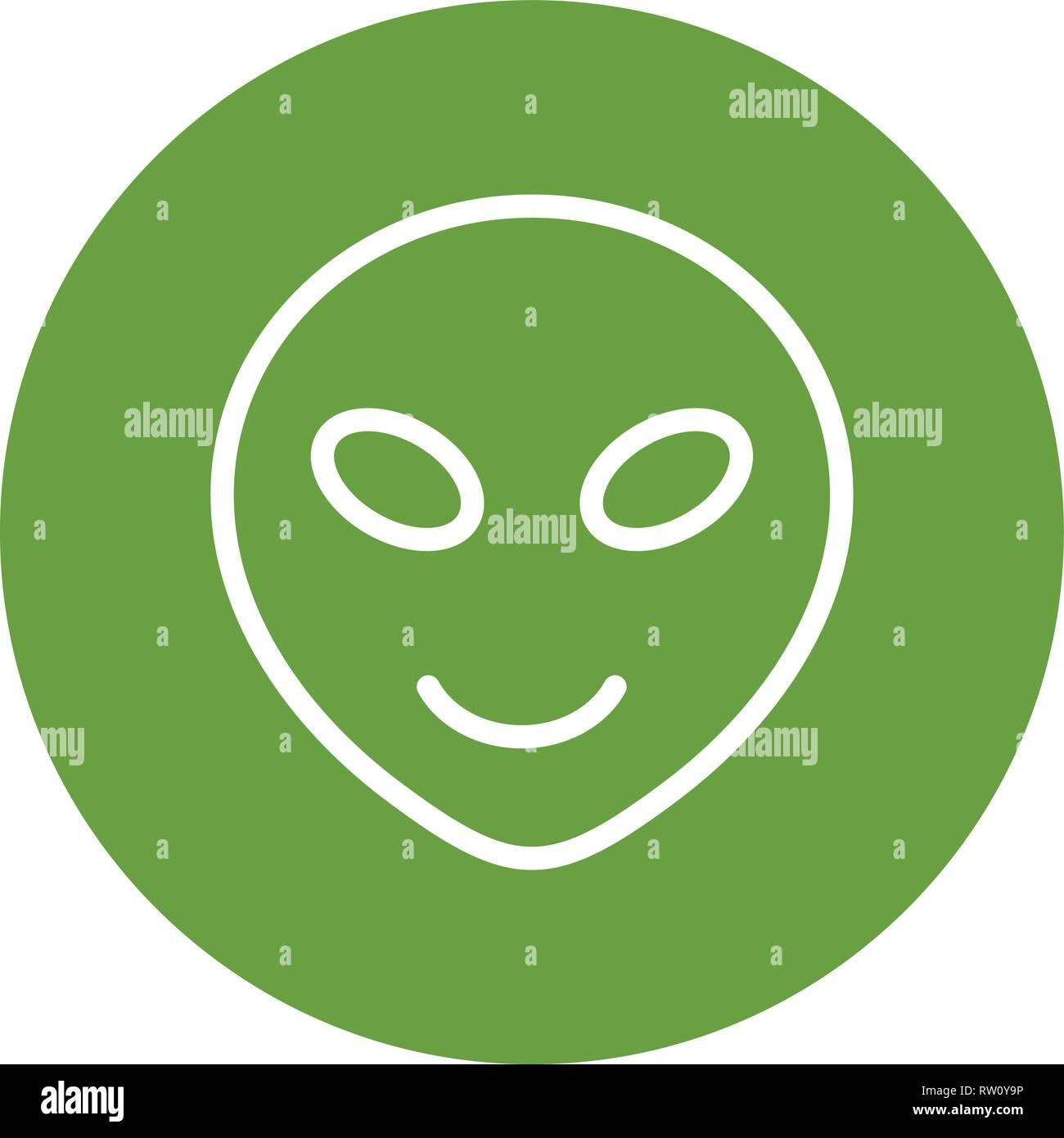 Alien Emoji Vector Icon Sign Icon Vector Illustration For Personal