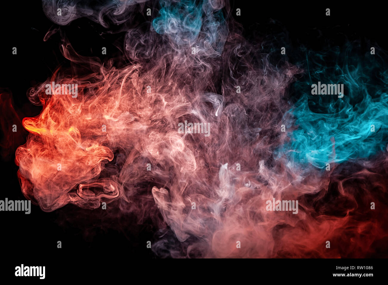 Frozen Abstract Movement Of Explosion Smoke Multiple Colors
