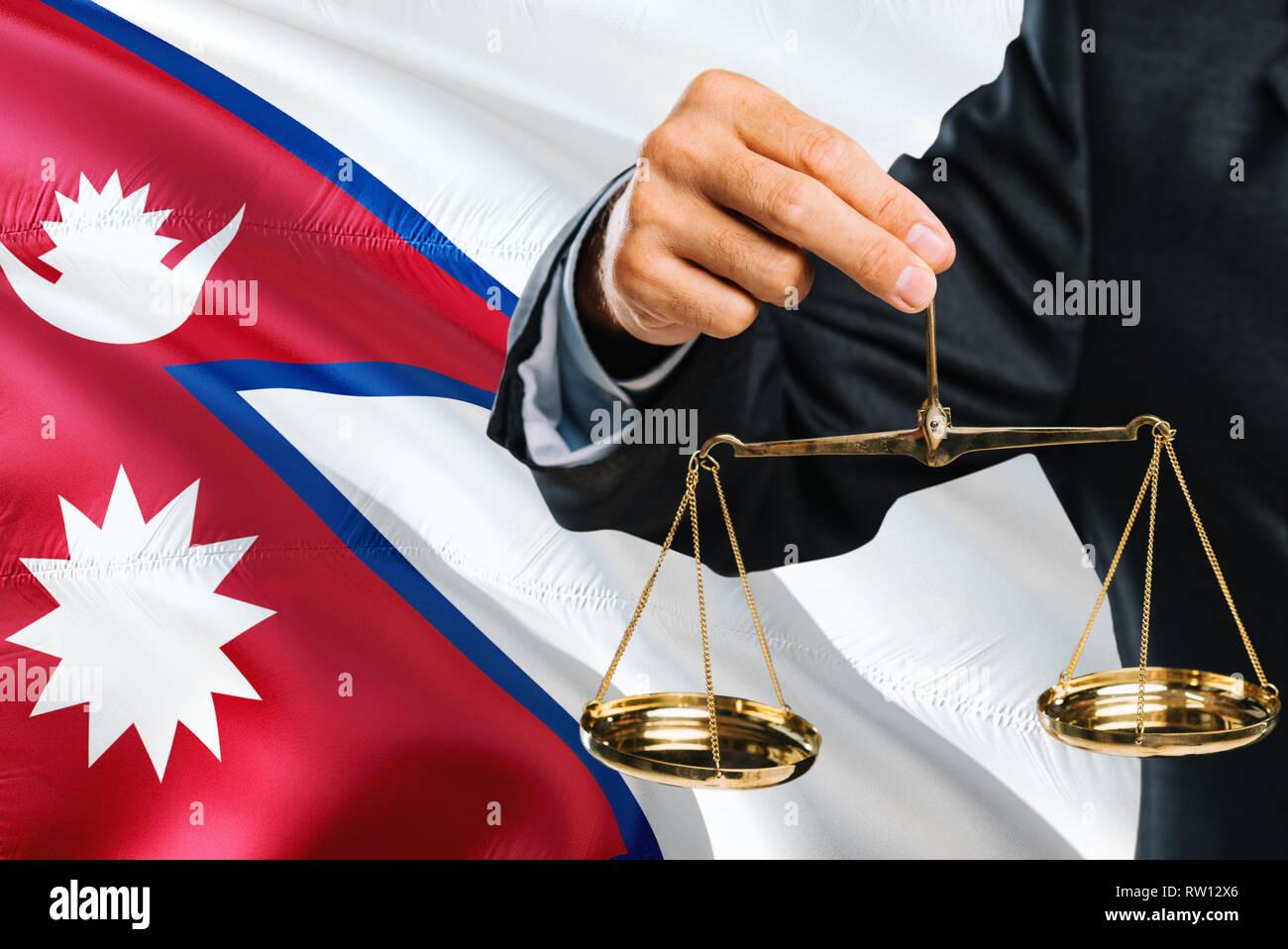 Nepal Waving Flag Stock Photos & Nepal Waving Flag Stock
